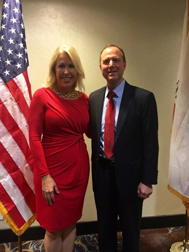 Representative Adam Schiff with Lithuanian Honorary Consul Daiva Navarrette Oct. 27, 2016