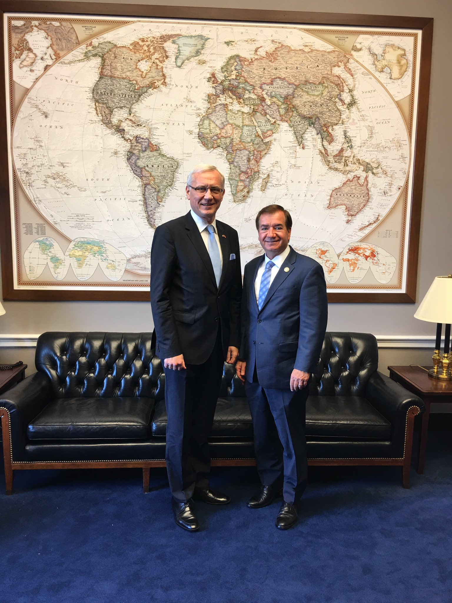 Ambassador Teikmanis and Representative Ed Royce
