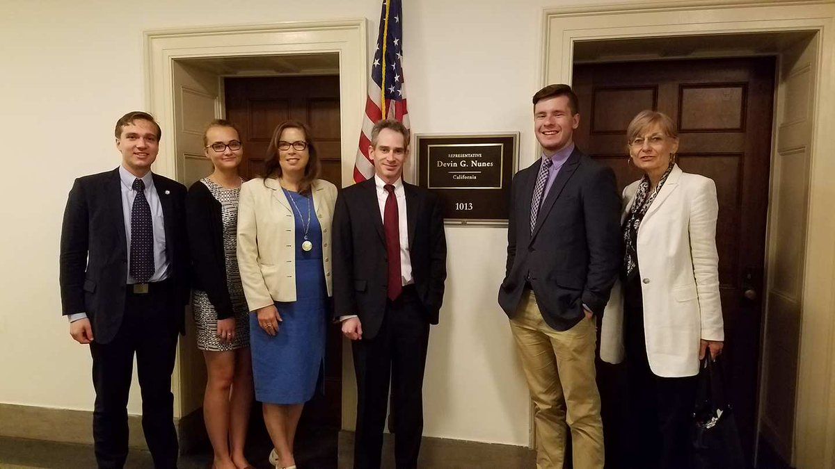 Meeting with Mr. Langer at Rep. Nunes of California's office